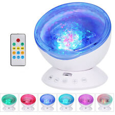 Relaxing Projector LED Music Ocean Wave Night Light Remote Lamp Kids Sleep Gift