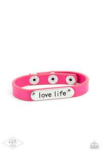 Paparazzi ~ Love Life PINK Snap Bracelet ~ 💎EXCLUSIVE PINK DIAMOND 💎 ~ WOW