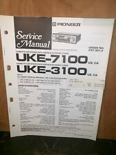 Pioneer UKE-7100,3100 Car Cassette Deck Service manual #2