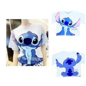 PRIMARK Disney ladies Lilo And Stitch Pyjama PJS Blue Night Shirt top Brand New