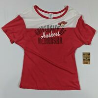 NWT Rivalry Threads University Of Nebraska Huskers Ladies Small 4/6 T Shirt Red