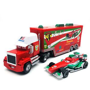 Disney Pixar Francesco Bernoulli Hauler Truck & Car Toy 1:55 Diecast Model Loose