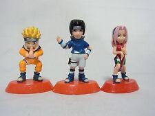 Naruto Coca Cola Original Mini Size Figures Naruto&Sasuke&Sakura Genin