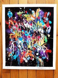 JONONE Originale - My World - Edition. Signée Numérotée - 2019. Street Art