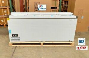 "NEW 79"" Top Loading Back Bar Beer Soda Bottle Cooler Deep Well Refrigerator NSF"
