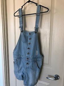 Dotti Vintage Ripped Blue Overalls. Size 10