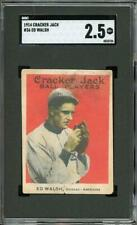 1914 Cracker Jack #36 Ed Walsh - Chicago White Sox - HOF - SGC 2.5