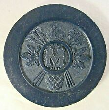 Antique Vintage Blue Clay Poker Chip Minneapolis Brewing Co MN .Grain Belt Beer