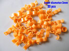 20 Pcs 3 mm Orange Bird Ring Leg Bands Parrot Finch Canary Grouped