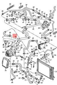 Genuine AUDI A6 allroad qu. quattro 4BH Coolant Pipe 079121070S