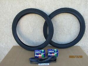 NEW  20'' X 1.95 BICYCLE BLACK TIRES , TUBES & LINERS FOR BMX, GT, MONGOOSE