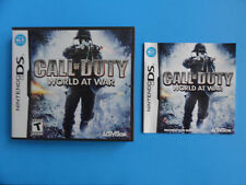 NO GAME- NINTENDO DS CALL OF DUTY WORLD AT WAR - CASE & MANUAL ONLY- NO GAME-