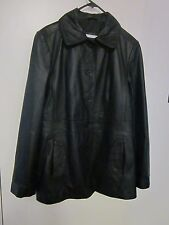 BEAUTIFUL ,BLACK LEATHER COAT, SIZE 16 BY TARGET