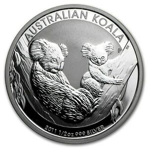 2012 Koala 1//2 oz .999 Fine Silver Coin From Sealed Roll in Plastic Capsule