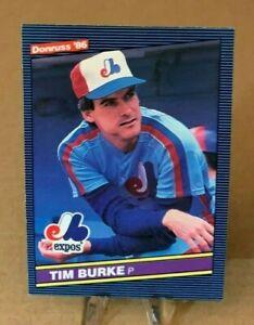 1986 Donruss  ⚾ TIM BURKE #21, ✨ RC ✨, Montreal Expos  -  MINT