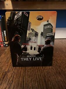 They Live (Blu-ray Disc, 2017, SteelBook Limited Edition) USED
