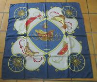 "Carré foulard Hermès ""SPRINGS"" signé Ledoux twill soie silk scarf"