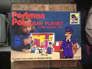 Postman Pat 12 Piece Chunky Jigsaw Playset Vintage 1990s In Excellent Condition