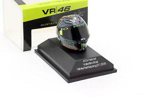 Valentino Rossi Winter Test Sepang MotoGP 2018 AGV Helm 1:8 Minichamps