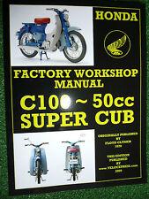 HONDA 50cc C100 SUPER CUB MOTORCYCLE FACTORY WORKSHOP MANUAL Up To 1970