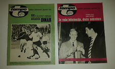 TWO MAGAZINES TEMPO  FC PARTIZAN BELGRAD FC MANCHESTER UTD BEFORE MATCHES 1966