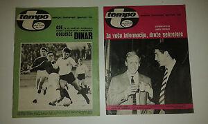 2 x MAGAZINE TEMPO  FC PARTIZAN BELGRAD FC MANCHESTER UTD BEFORE MATCHES 1966