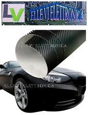X002-46 Pellicola Adesiva Carbon Look Scarichi Moto Auto Alta Temperatura 150°