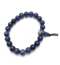 Armband Kugelarmband Edelsteine Natur Sodalith blau weiß Kugel 8mm