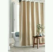 Threshold Waffle Weave Cotton Shower Curtain ~ Tan 72 x 72 Grommet Top ~ New