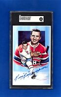 1992 Legends of Hockey Series #5 BOOM BOOM GEOFFRION  AUTOGRAPHED  SGC AUTHENTIC