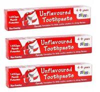 3 x Oranurse Unflavoured Toothpaste 50ml 4+ Years