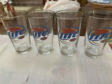 MILLER LIGHT LOGO All Natural Pilsner Beer Glasses Great Shape