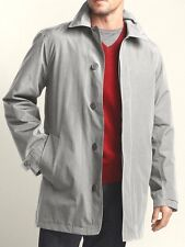 EDDIE BAUER MENS JACKET MICRO THERM LINED TRENCH COAT gray silver L $229