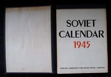 Vtg Original 1945 Soviet Calendar Book English Text Loaded w/ Pics & Propaganda