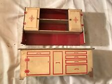 Vintage Toy Kitchen Metal Hutch