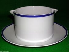 THOMAS CHINA NAVY TRIM GRAVY BOAT / STAND VGC 300ml+ Germany