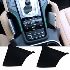 Black Interior Middle Armrest Storage Box Phone Coins Holder For Porsche Cayenne