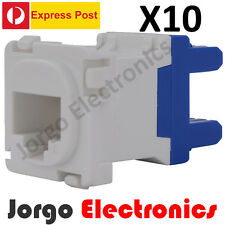 10 CLIPSAL COMPATIBLE CAT6 RJ45 Data Inserts Jacks X10 -EXPRESS POST-