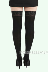 PLUS SIZE OPAQUE HOLD UPS lace 20 22 3xl 3x 24 26 sexy lingerie stay ups warm
