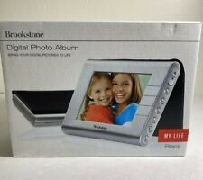 "Brookstone My Life 3.5"" Portable Digital Photo Album Picture Frame Black"