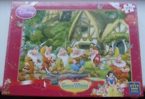 SEALED King 100 Piece Disney Princess Snow White & Seven Dwarfs Jigsaw Puzzle