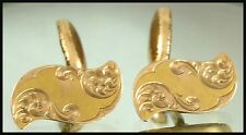 Plated or Fill Studs Cuff Links Antique Victorian Nouveau Cufflinks Vintage Gold