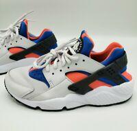 Nike Air Huarache Run 634835-031 Grey Coral Blue Running Shoes Women's Size 8