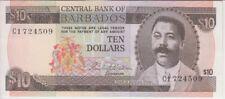 Barbados Banknote P33a-4509 10 Dollars Prefix C1 Sig Blackman, EF-AU WE COMBINE