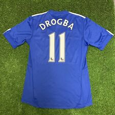 2009 2010 Didier Drogba Chelsea FcJersey Kit Shirt Adidas Blue Home Medium M Epl
