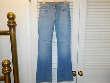 "7 FOR ALL MANKIND JEANS ""Bootcut Lowrise 26 Lighter Blue Stretch USA Made  C"