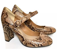 Ladies Mary Jane Shoes M&S Autograph Animal Print Leather 3.5 36 BNWT Marks
