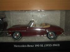 Mercedes Benz W 121 - 190 Sl Rouge Vin avec Canopée 1:18 Neuf Emballage Scellé