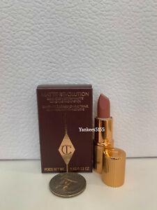 NIB Charlotte Tilbury Matte Revolution Lipstick Mini PILLOW TALK 1.1g / 0.03oz