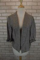 NEW $69 Ann Taylor LOFT Womens Blazer Linen Sz 4 Small Jacket Open Front NWT
